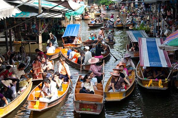 泰國曼谷水上市場比較,泰國水上市場推薦,泰國水上市場介紹