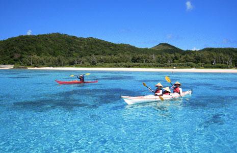 皮划艇海上,沖繩海上活動,沖繩皮划艇海上,沖繩無人島,沖繩活動