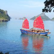 蘇梅島紅男爵號復古紅帆船安通國家公園一日遊