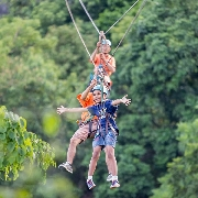泰國蘇梅島拉邁View Point觀景台叢林飛索