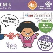 日本Softbank聯通8日4G無限數據卡