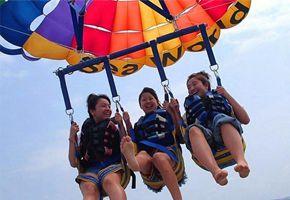 沙巴沙比島浮潛+拖拽傘一日遊